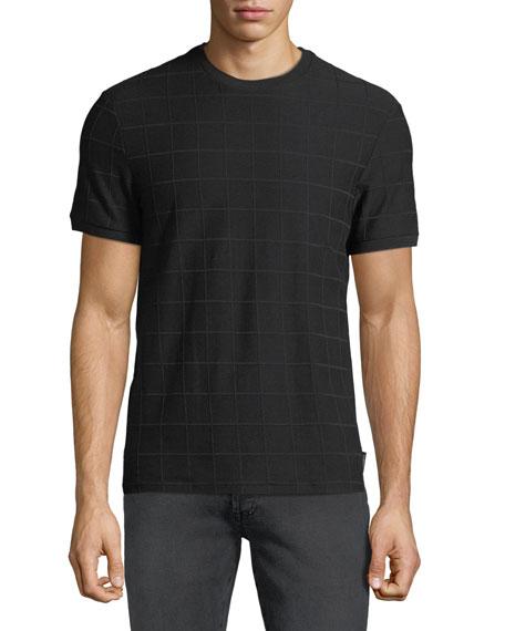 Emporio Armani Men's Tonal Grid Crewneck T-Shirt