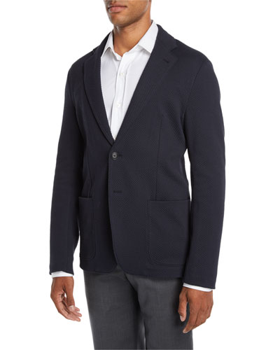 Men's Soft Texture Two-Button Blazer Jacket