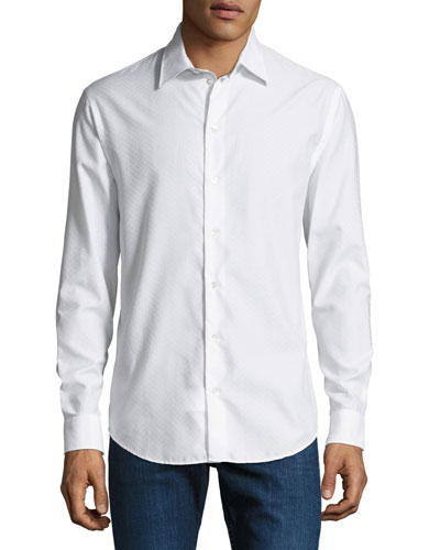 Men's Tonal Chevron Sport Shirt