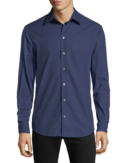 Men's Pin-Dot Sport Shirt
