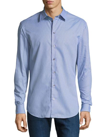Men's Multi-Circle Cotton Sport Shirt