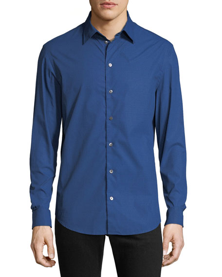 Men's Hexagon-Pattern Sport Shirt