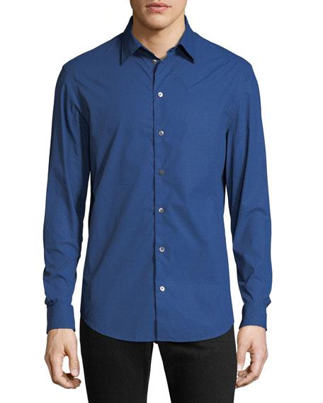 Emporio Armani Men's Hexagon-Pattern Sport Shirt