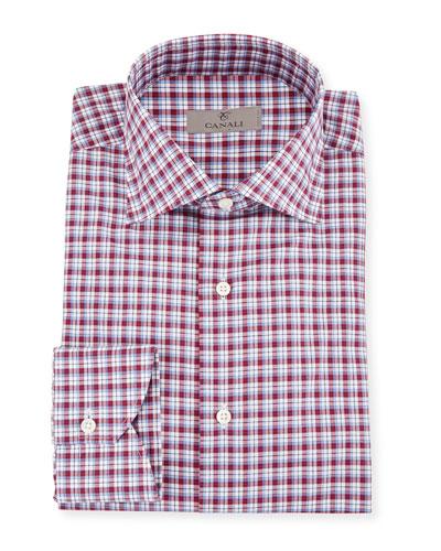 Men's Check Cotton Dress Shirt
