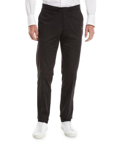 Men's Luxury Stretch Flat-Front Pants