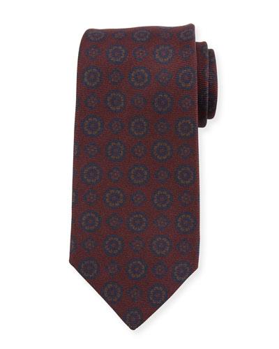 Antique Medallion Silk Tie