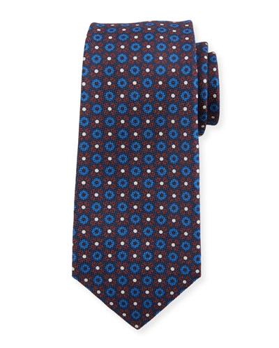 Flower Circle Silk Tie