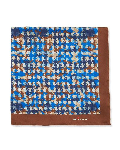 Irregular Spots Silk Pocket Square