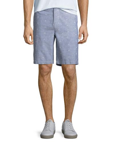 Men's Thompson Dot-Pattern Cotton Shorts