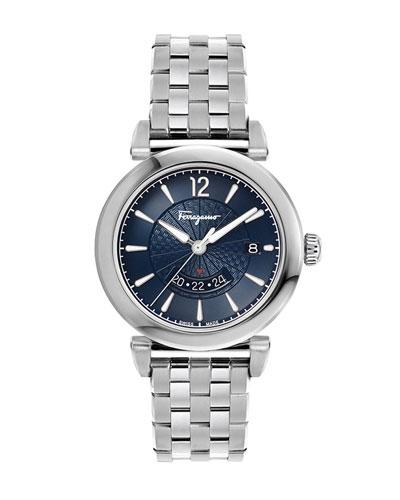 Men's Feroni GMT Quartz Stainless Steel Bracelet Watch