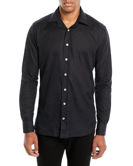 Etro Men's Jacquard Sport Shirt