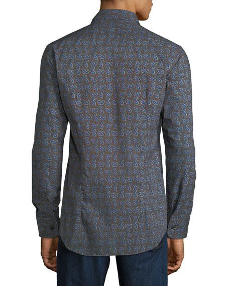Men's Paisley Print Sport Shirt