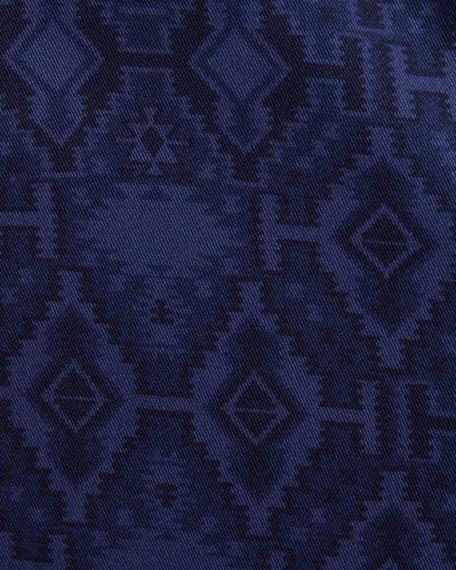 Men's Carpet-Jacquard Cotton Two-Button Blazer