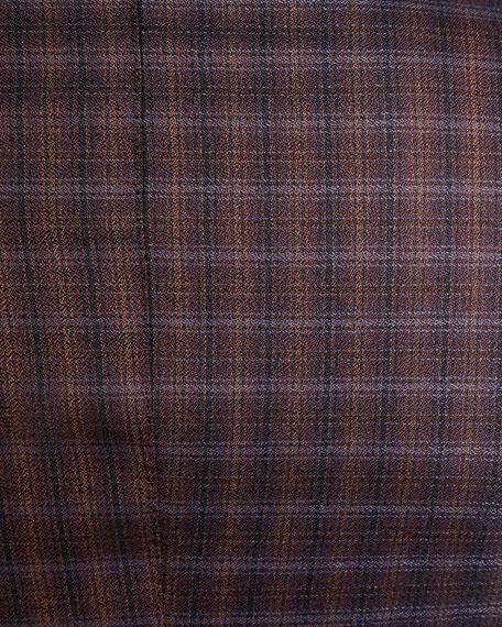 Men's Two-Tone Check Wool Jacket