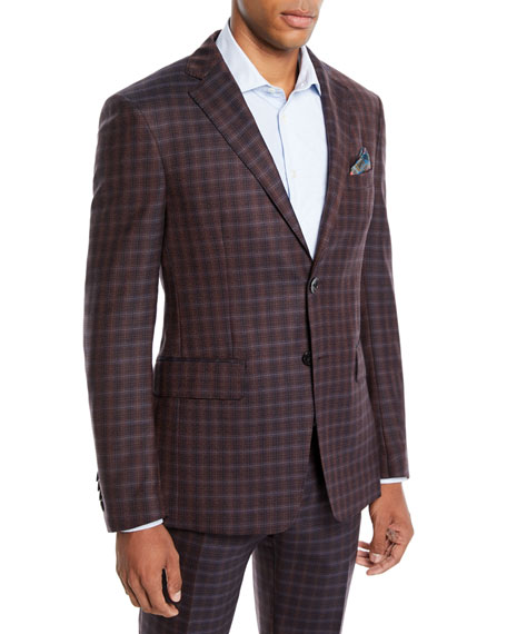 Etro Men's Two-Tone Check Wool Jacket