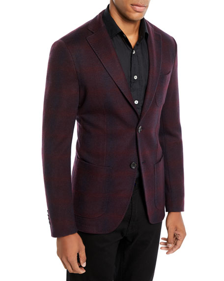 Men's Checked Jersey Jacket