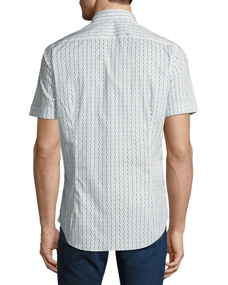 Men's Waves Short-Sleeve Sport Shirt