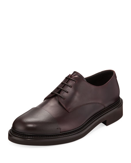 Giorgio Armani Men's Chunky Heel Lace-Up Shoes