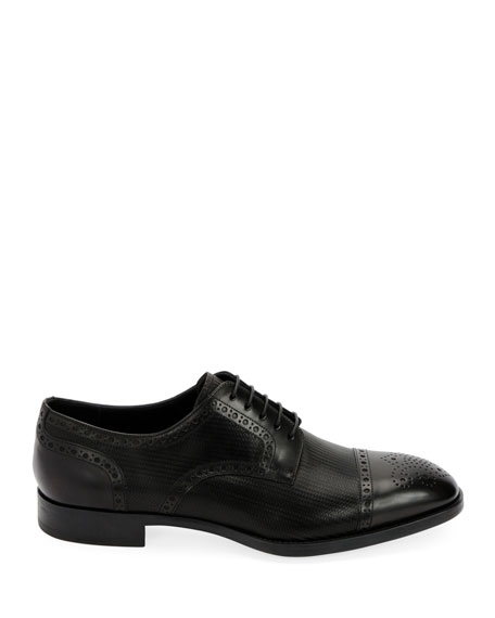 Men's Calf Leather Brogue Derby Shoe