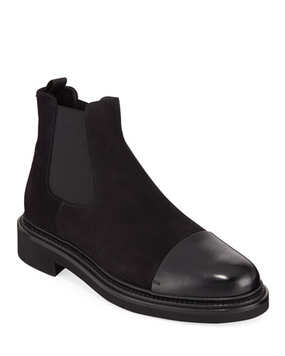 Men's Vachetta Leather/Suede Chelsea Boots