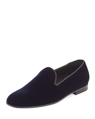Men's Formal Velvet Round-Toe Slippers