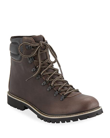 WOLVERINE Men'S Waterproof Leather Hiking Boots in Brown