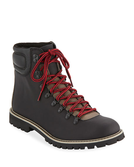 WOLVERINE Men'S Waterproof Two-Tone Leather Hiking Boots in Black