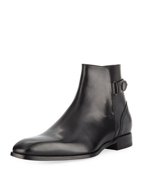 Ermenegildo Zegna Men's Milano Blake Leather Boot, Black