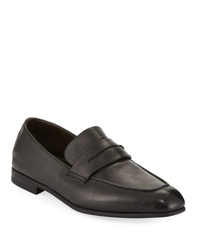 Men's Lasola Soft Burnished Leather Penny Loafers