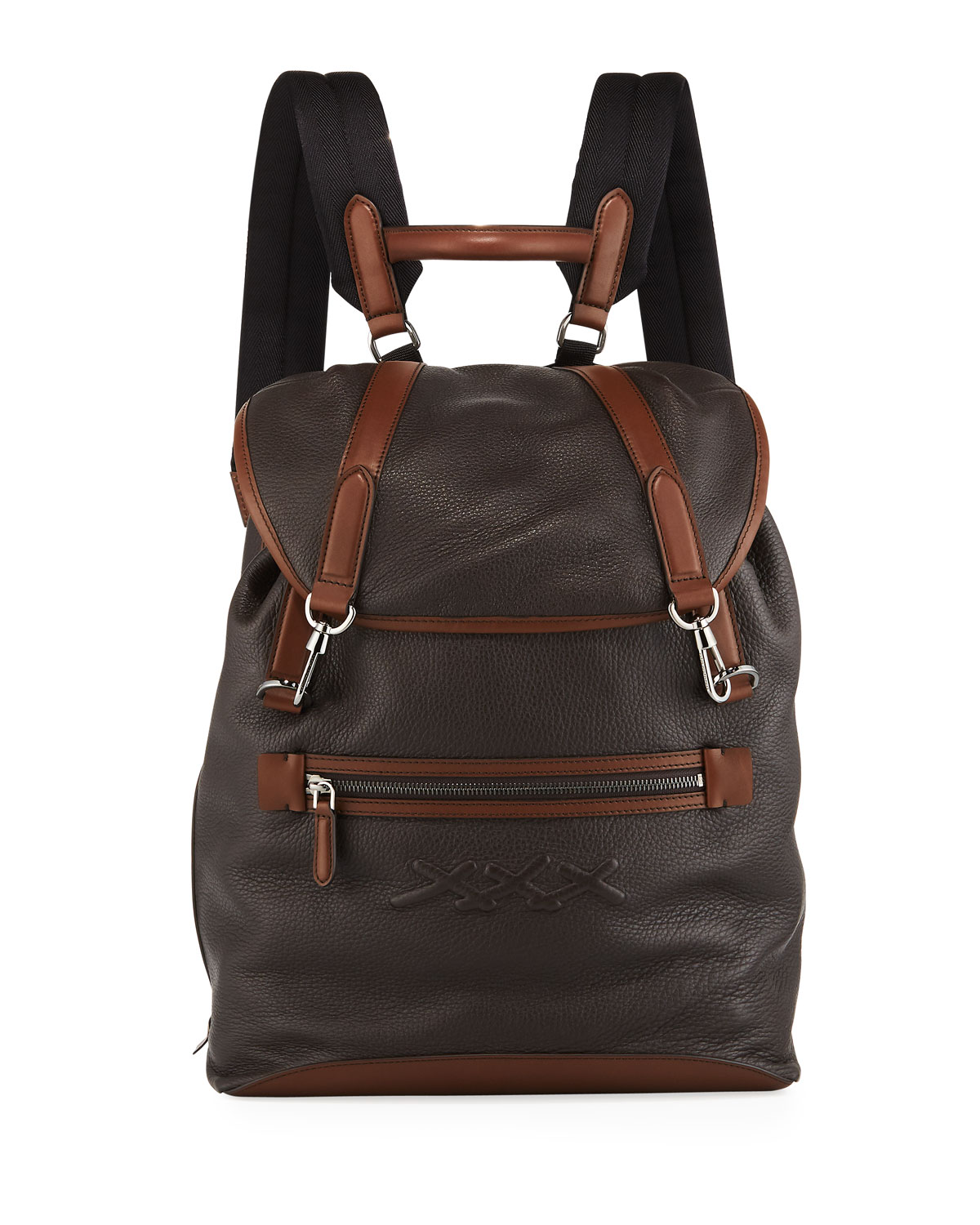 dc141e2698 Men's Flap Calf Leather Backpack