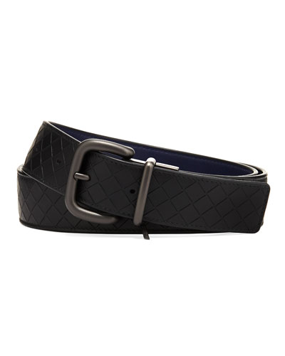 Men's Reversible Intrecciato Mirage Leather Belt