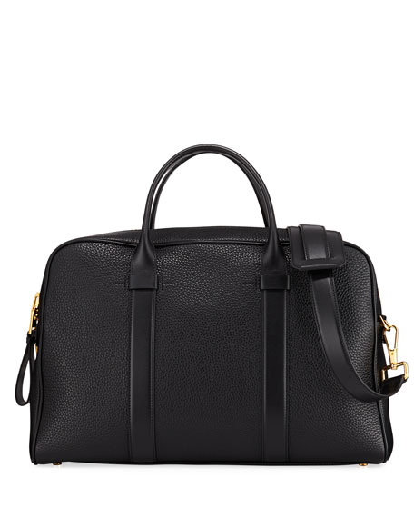 Tom Ford MEN'S LEATHER DOCUMENT BRIEFCASE