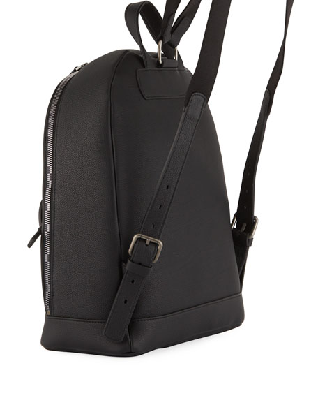 Men's Tumbled Calf Leather Backpack