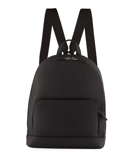 Giorgio Armani Men's Tumbled Calf Leather Backpack