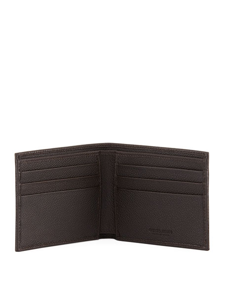 Men's Tumbled Leather Bi-Fold Wallet