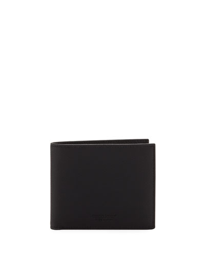 Men's Tumbled Leather Bi-Fold Wallet