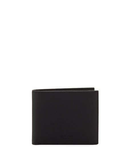 Giorgio Armani Men's Tumbled Leather Bi-Fold Wallet