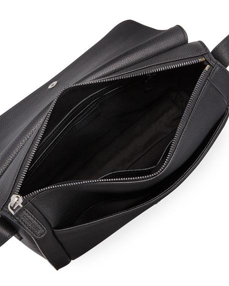 Men's Tumbled Leather Messenger Bag