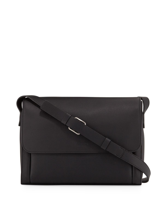 b38e94ad2781 Giorgio Armani Men s Tumbled Leather Messenger Bag