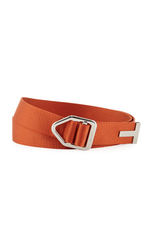 TOM FORD Men's Nylon Belt with Pull-Through Buckle