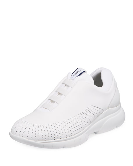 Men's Sprinter 2.0 Perforated Leather Trainer Sneakers, Chalk