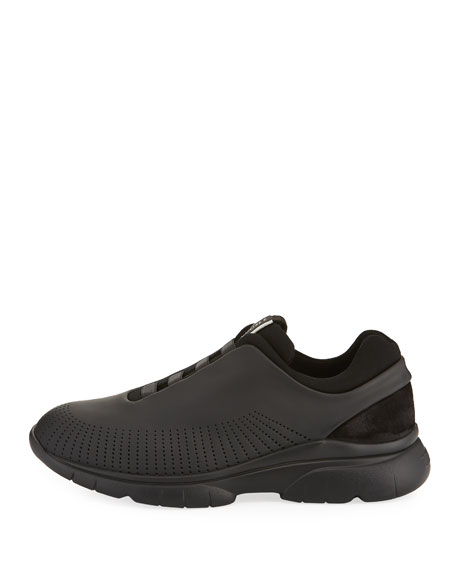 Men's Sprinter 2.0 Perforated Leather Trainer Sneakers, Black