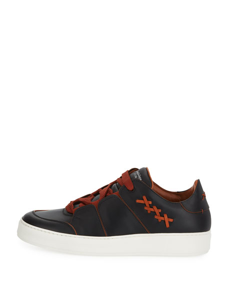 Men's Tiziano Leather Low-Top Sneakers