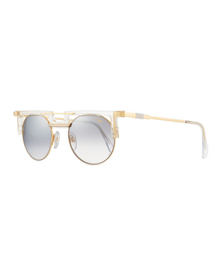 Cazal Men's Round Gradient Acetate/Metal Sunglasses