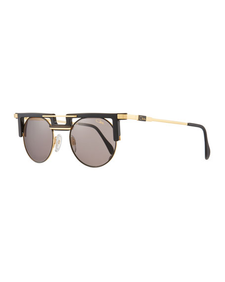 Cazal Men's Round Acetate/Metal Sunglasses