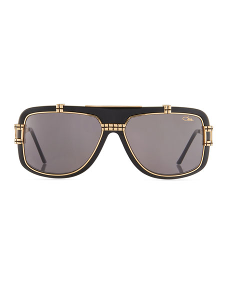 Men's Acetate/Metal Shield Sunglasses