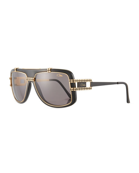 Cazal Men's Acetate/Metal Shield Sunglasses