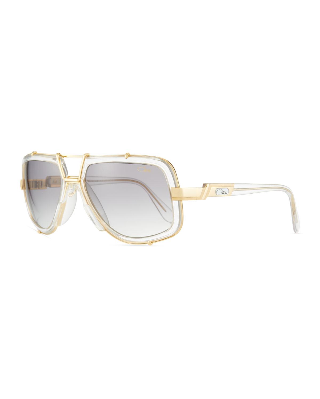 3da09fee69e2 Cazal Men s 61mm Square Acetate Metal Aviator Sunglasses