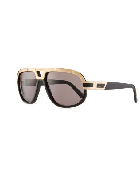 Men's 62mm Acetate/Metal Aviator Sunglasses