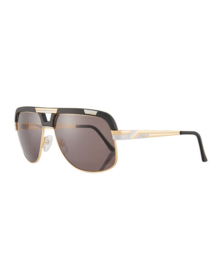 Cazal Men's Acetate/Metal Aviator Sunglasses